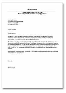 Cover Letter For Security Position Sample Cover Letter For Security Guard Position Form To
