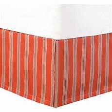 striped bed skirt in coral joss
