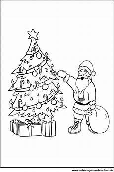 Ausmalbild Weihnachtsbaum Mit Geschenken Weihnachtsmann Weihnachtsbaum Geschenke Ausmalbild