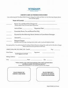 Hotel Credit Card Authorization Form Free Wyndham Hotels Credit Card Authorization Form Word