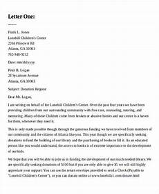 Sample Letter Of Donation Free 41 Sample Donation Letter Templates In Ms Word