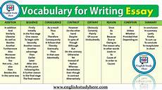 Essay Words To Use Vocabulary For Writing Essay English Study Here