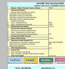 Income Tax Calculation Chart 3 Income Tax Calculator Free Download