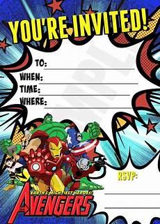 Printable Superhero Invitations Advengers Printable Fill Out Invitation Superheros Invite
