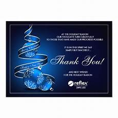 Business Thank You Cards With Logo Business Holiday Thank You Cards With Company Logo Zazzle