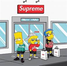 simpsons wallpaper supreme supreme x on behance