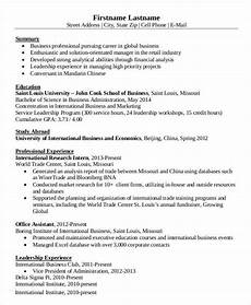 Bussiness Resume 15 Simple Business Resume Templates Pdf Doc Free