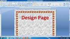 Latin Word For Design How To Design Page In Microsoft Word Youtube