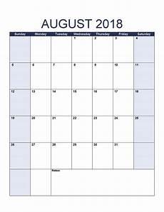 Printable Calendar August Free August 2018 Calendar Printable Template Us Canada Uk
