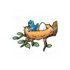 abeka clip happy baby bird in a nest with an egg