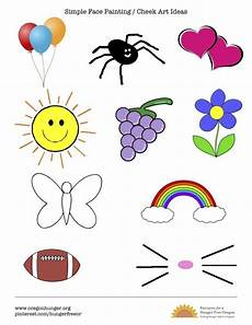 Face Painting Chart Simple Quick And Easy Face Painting And Cheek Art Ideas