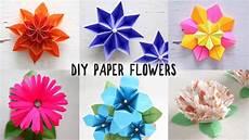 6 easy diy paper flowers