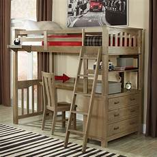 loft bed with desks a solution to optimize the