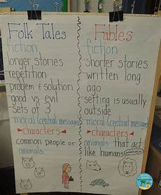 Fable Anchor Chart 2nd Grade Fables Folk Tales Central Message And A Freebie