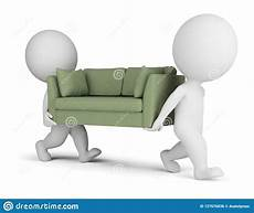 Small White Sofa 3d Image by 3d Small Carry A Sofa Stock Illustration