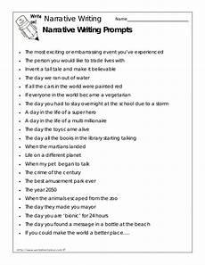 Example Essay Prompts Narrative Writing Prompts