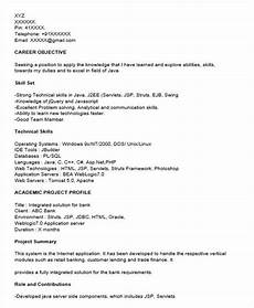 Core Java Resume Free 40 Fresher Resume Examples In Psd Ms Word