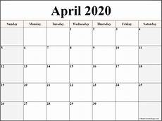 2020 17 Blank Calendar April 2020 Calendar Free Printable Monthly Calendars