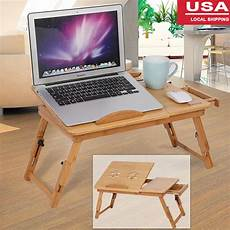 portable bamboo laptop desk table folding breakfast bed