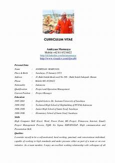 Project Cv Andryaas Project Manager Cv 2012