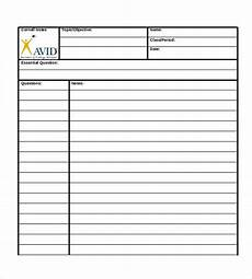 Cornell Notes Avid 8 Cornell Notes Taking Free Sample Example Format