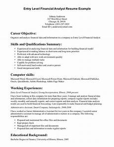 Resumes With Objectives General Entry Level Resume Objective Examples Career
