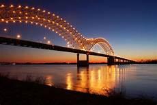 Hernando De Soto Bridge Lights Hottytoddy Hometown Memphis Tennessee Hottytoddy Com