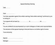 Contoh Appeal Letter 26 Hr Warning Letter Templates Free Word Doc Pdf Samples