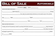 Vehicle Bill Of Sale Illinois Free Illinois Car Bill Of Sale Template Off Road Freedom
