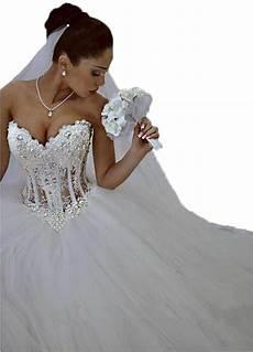 lovelybride glamorous sweetheart with pearls wedding dress