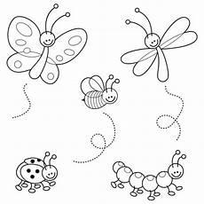kostenlose malvorlage tiere lustige insekten zum ausmalen