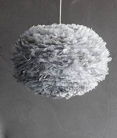 Feather Light Furniture Large Grey Feather Light Shade Vita Eos Hnadcrafted