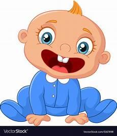 Cartoon Babies Pictures Cartoon Happy Baby Boy Royalty Free Vector Image