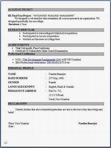 Attractive Resume Format For Freshers Top 5 Resume Formats For Freshers Resume Format For