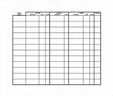 Volleyball Stat Sheet 10 Stat Sheet Templates Coaching Volleyball Volleyball