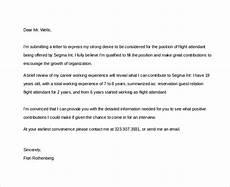 Flight Attendant Cover Letter Samples Sample Flight Attendant Cover Letter 6 Free Documents