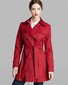 hooded trench coats for lyst dkny trench coat breasted hooded in