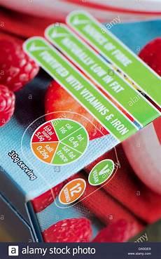 Food Packaging Traffic Light System Sainsburys Traffic Light Labelling On Food Packaging Stock