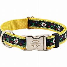 Country Brook Design Dog Collars Country Brook Design 174 Premium Edelweiss Ribbon Dog Collar