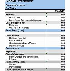 Income Statement Excel Format 5 Free Income Statement Examples And Templates