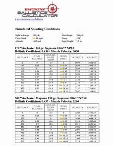 300 Wsm Ballistics Chart 300 Win Mag Trajectory Chart 300 Win Mag Pinterest