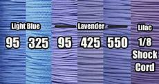 Periwinkle Blue Color Chart The 6 Colors You Search For The Most Paracord Planet