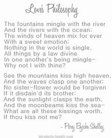 Percy Bysshe Shelley Love S Philosophy Poetry Pinterest