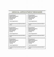Appointment Reminder Template Word 40 Appointment Cards Templates Amp Appointment Reminders