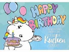 gru 223 karte happy birthday pummeleinhorn gru 223 karte