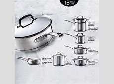 NEW Kirkland Signature 13 pc 18/10 Stainless Steel