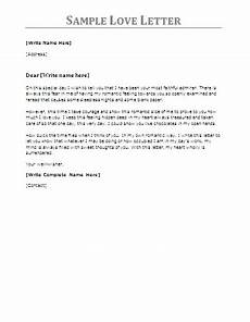 Love Letter Format Examples 4 Best Love Letter Samples Professional Word Templates