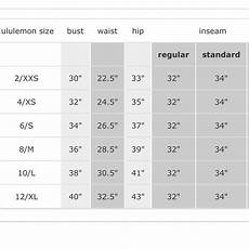 Lululemon Size Chart Womens Wholesale Clothing Bra Size