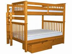 bedz king bunk beds mission style with end