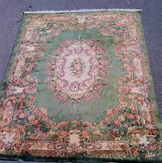 tappeto cinese tappeto cinese verde floreale brocante mollard